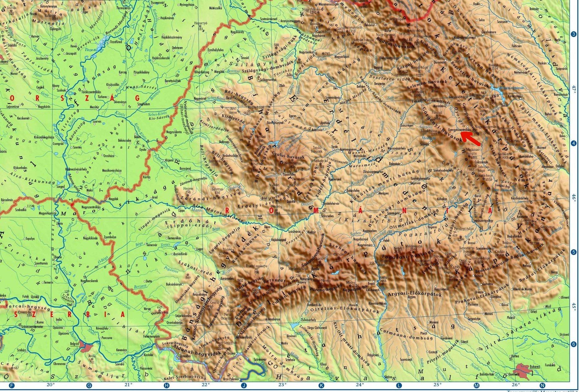 kárpátok domborzati térkép Székelyföldi túrák   Hiking in Szekely Land   2012 October kárpátok domborzati térkép