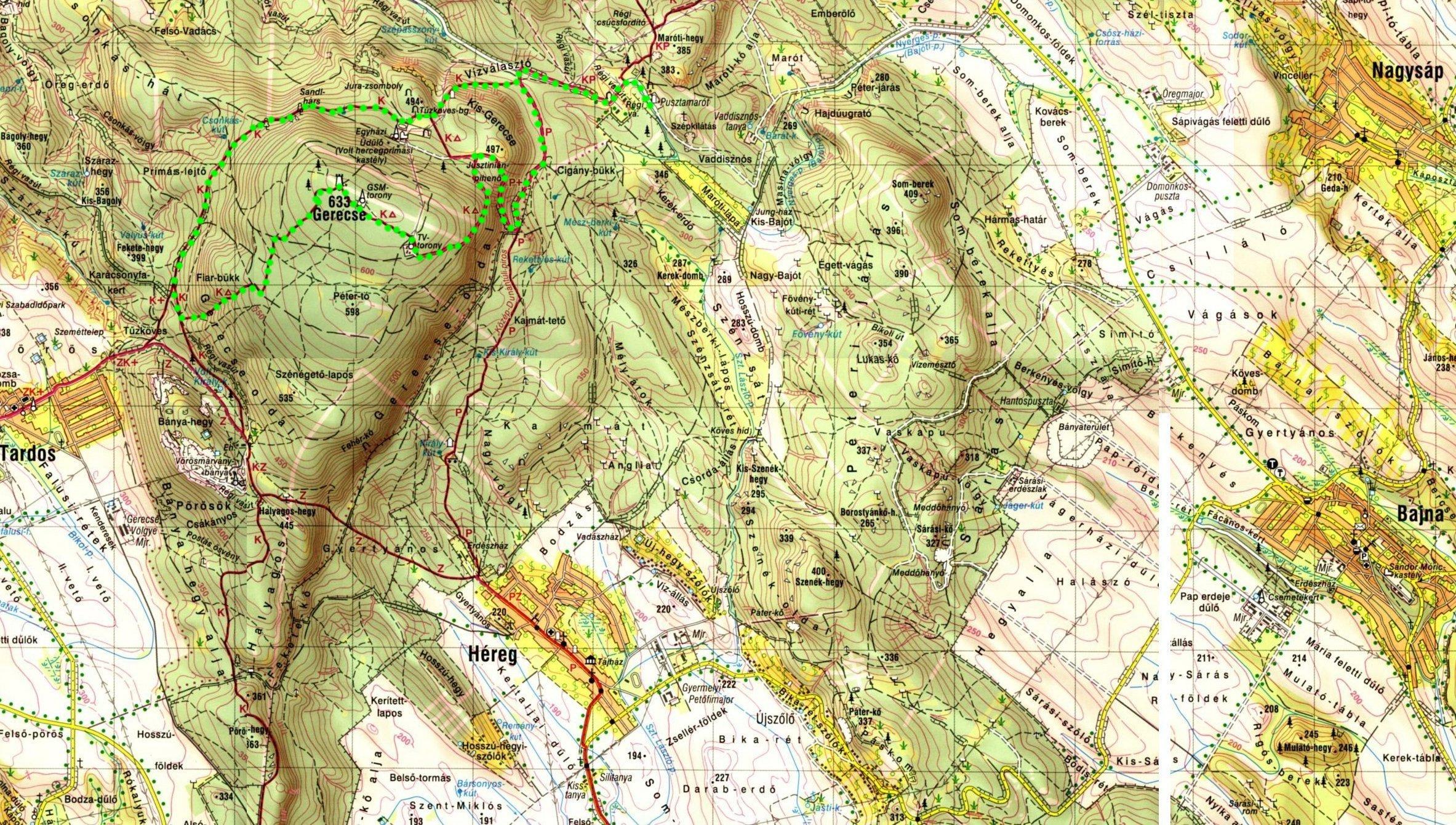 gerecse térkép Gerecse, Hungary gerecse térkép